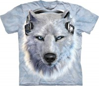 Футболка The Mountain White Wolf DJ