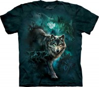 Футболка The Mountain NIGHT WOLVES COLLAGE
