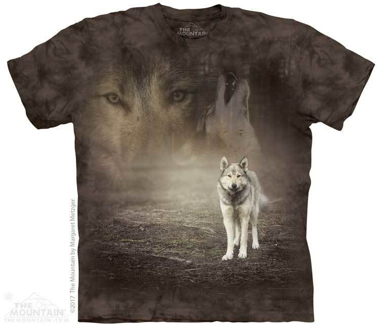 Футболка The Mountain Grey Wolf Portrait