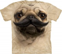 Футболка The Mountain Big Face Pug Stache