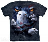 Футболка The Mountain PATRIOTIC MOON EAGLE EYE