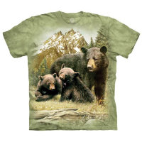 Футболка The Mountain Black Bear Family