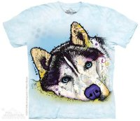 Футболка The Mountain Russo Siberian Husky Blue