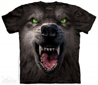 Футболка The Mountain Big Face Attack Wolf