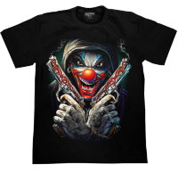 T-shirt de pistolet de clown de Rock Chang