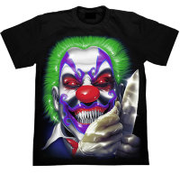 T-Shirt Rock Chang Clown mit einem Messer