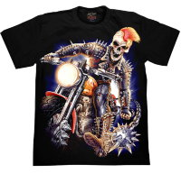 T-shirt de motard à pointes Rock Chang