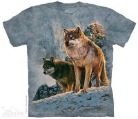 T-shirt The Mountain Wolf Couple Sunset