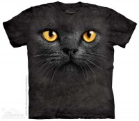 Camiseta The Mountain BIG FACE NEGRO GATO