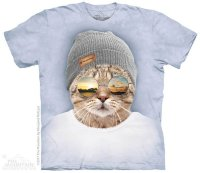 T-shirt The Mountain Cool Hipster Cat