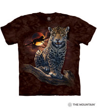 The Mountain Blood Moon Leopard camiseta
