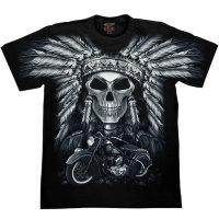 T-shirt Rock Chang Native American Skull
