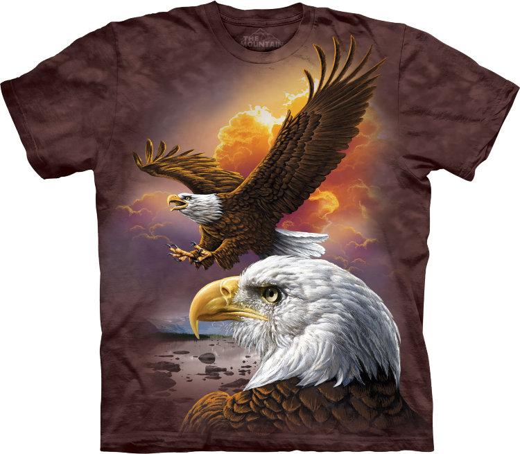 Футболка The Mountain EAGLE & CLOUDS - Интернет магазин красивые футболки The Mountaine