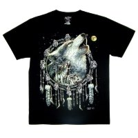 Camiseta Rock Chang Native American Wolf