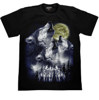 T-shirt Rock Chang Three Wolves