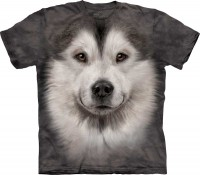 T-shirt The Mountain Alaskan Malamute Face