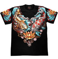 T-shirt Rock Chang Totem Koi