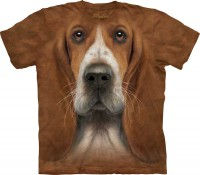 T-shirt The Mountain Basset Hound Head