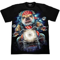 T-shirt Rock Chang Biker - Bulldog