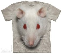 Kinder T-Shirt The Mountain Big Face Weiße Ratte